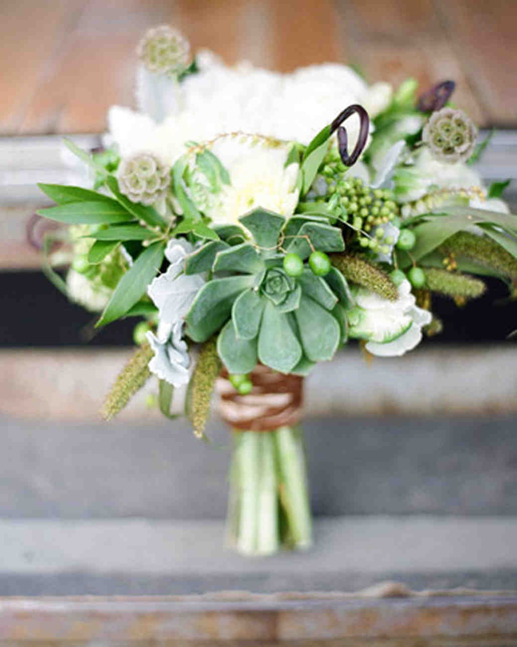 wedding bouquets with succulents 24 succulent wedding bouquets martha stewart weddings 8545