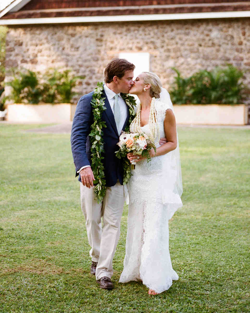bf621a9f87 A Traditional Hawaiian Destination Wedding in Maui | Martha Stewart ...
