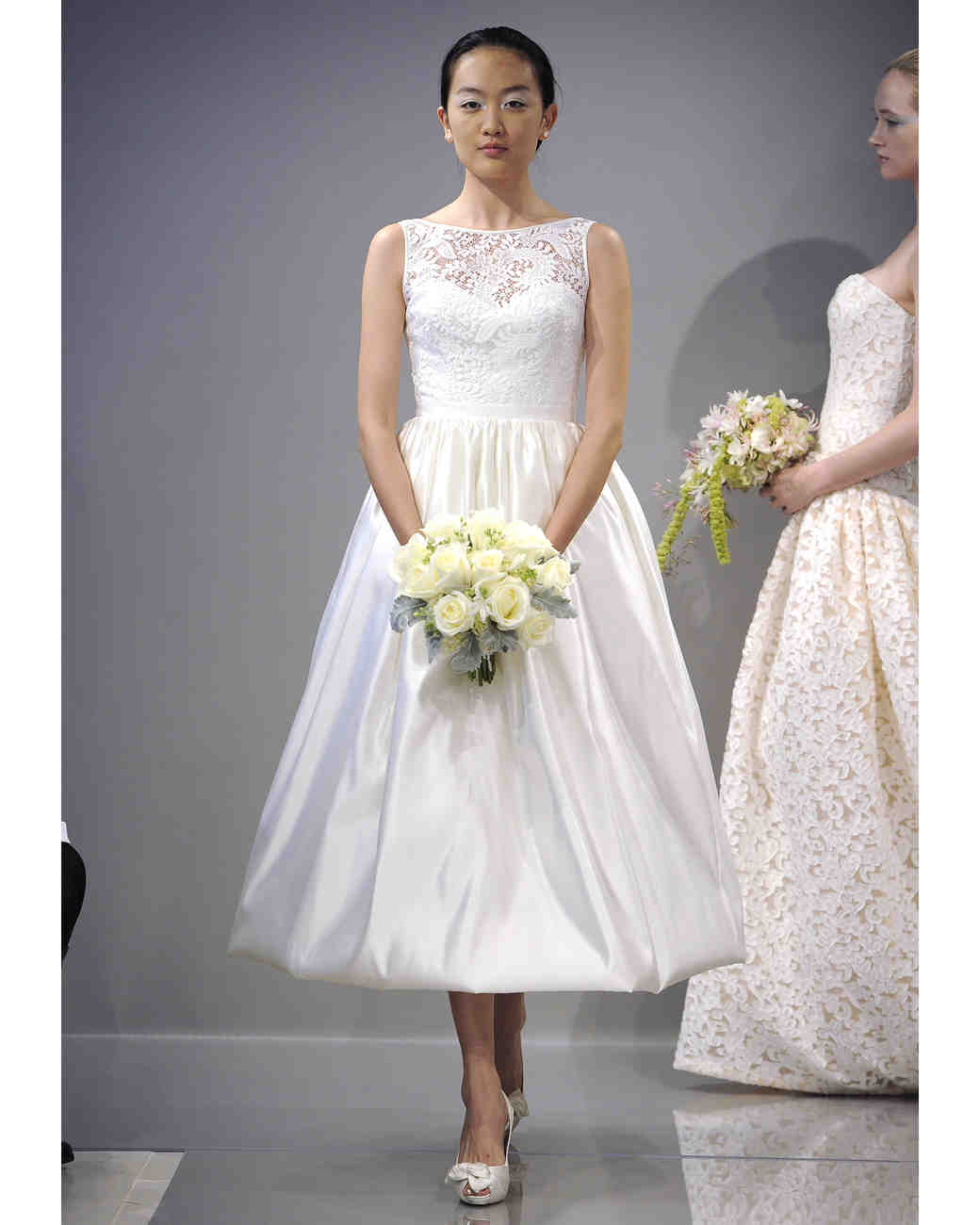 Tea-Length Wedding Dresses, Fall 2013 | Martha Stewart Weddings