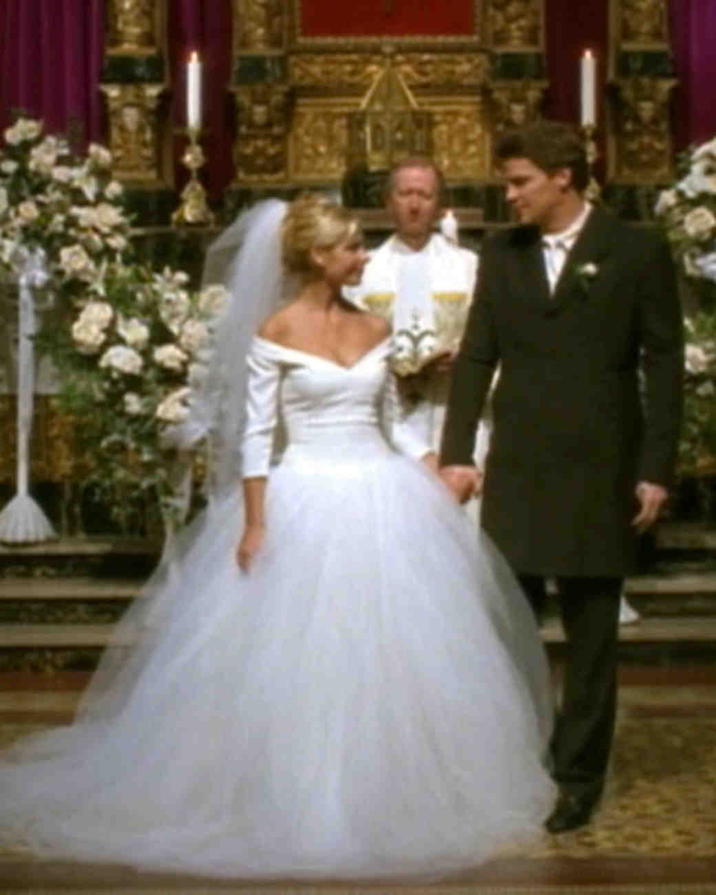 Iconic Tv Wedding Dresses That Stole The Show Martha Weddings