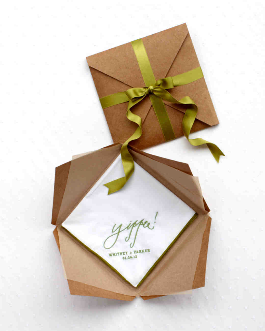 Handkerchief Keepsakes Boxed Wedding Favors Martha