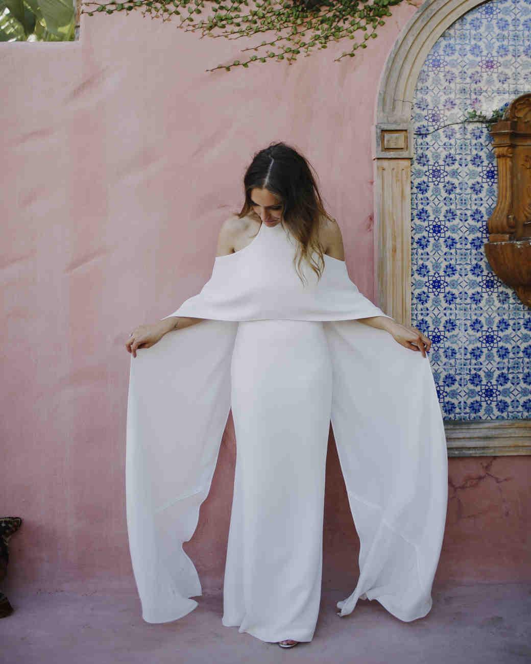 open back bridal cape