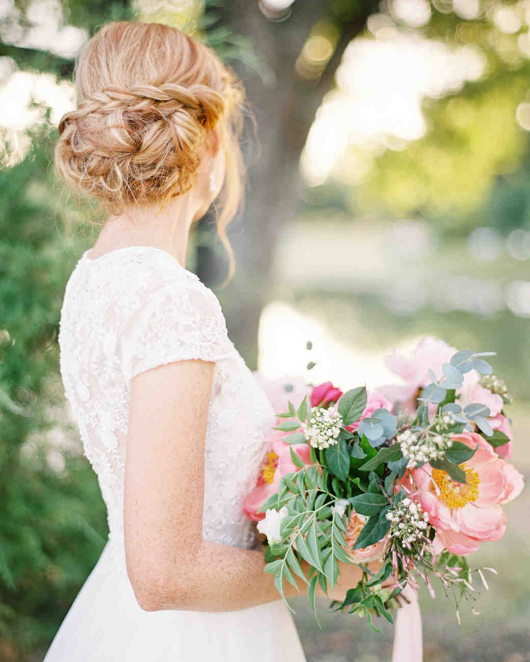 bridal updos lauren peele
