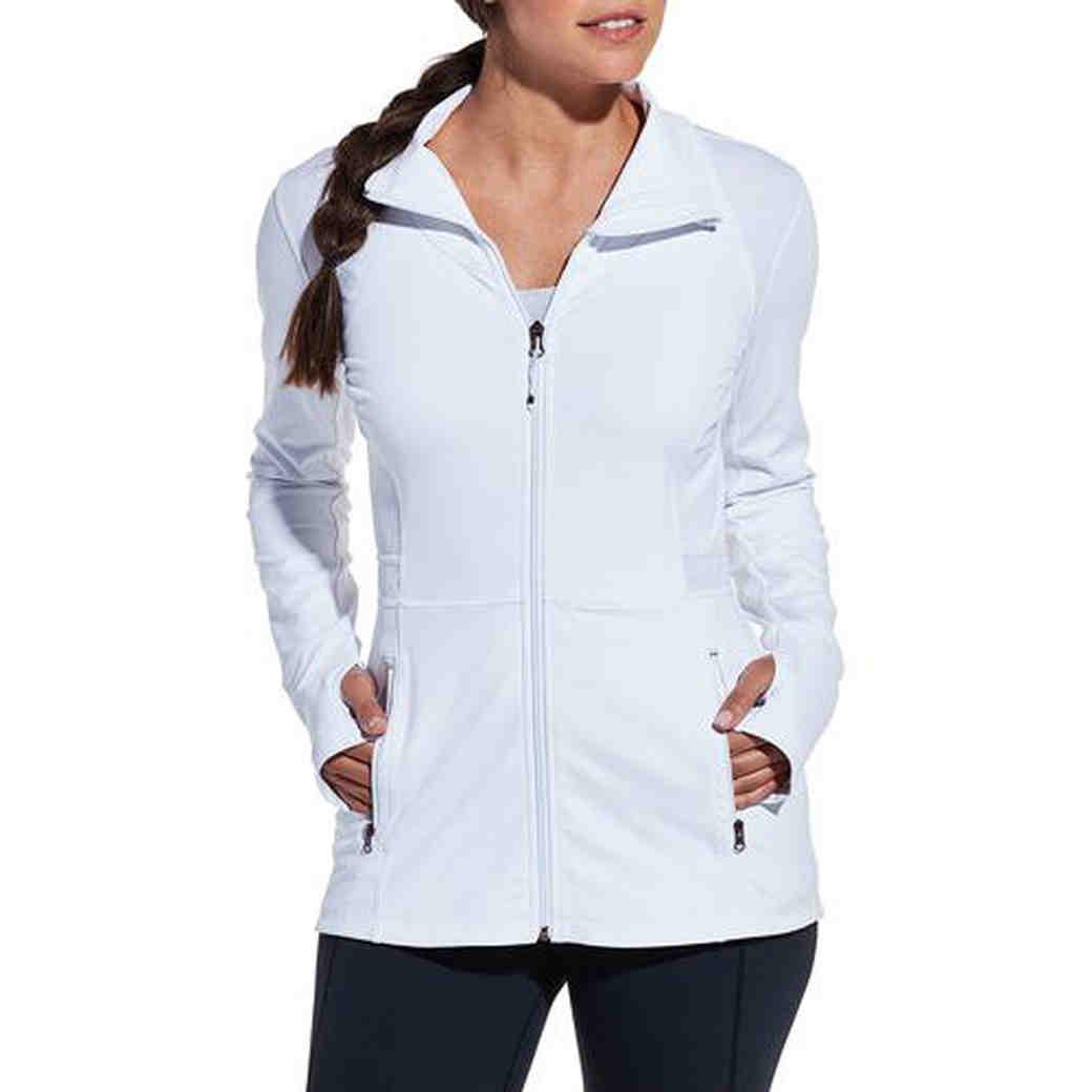 white workout jacket