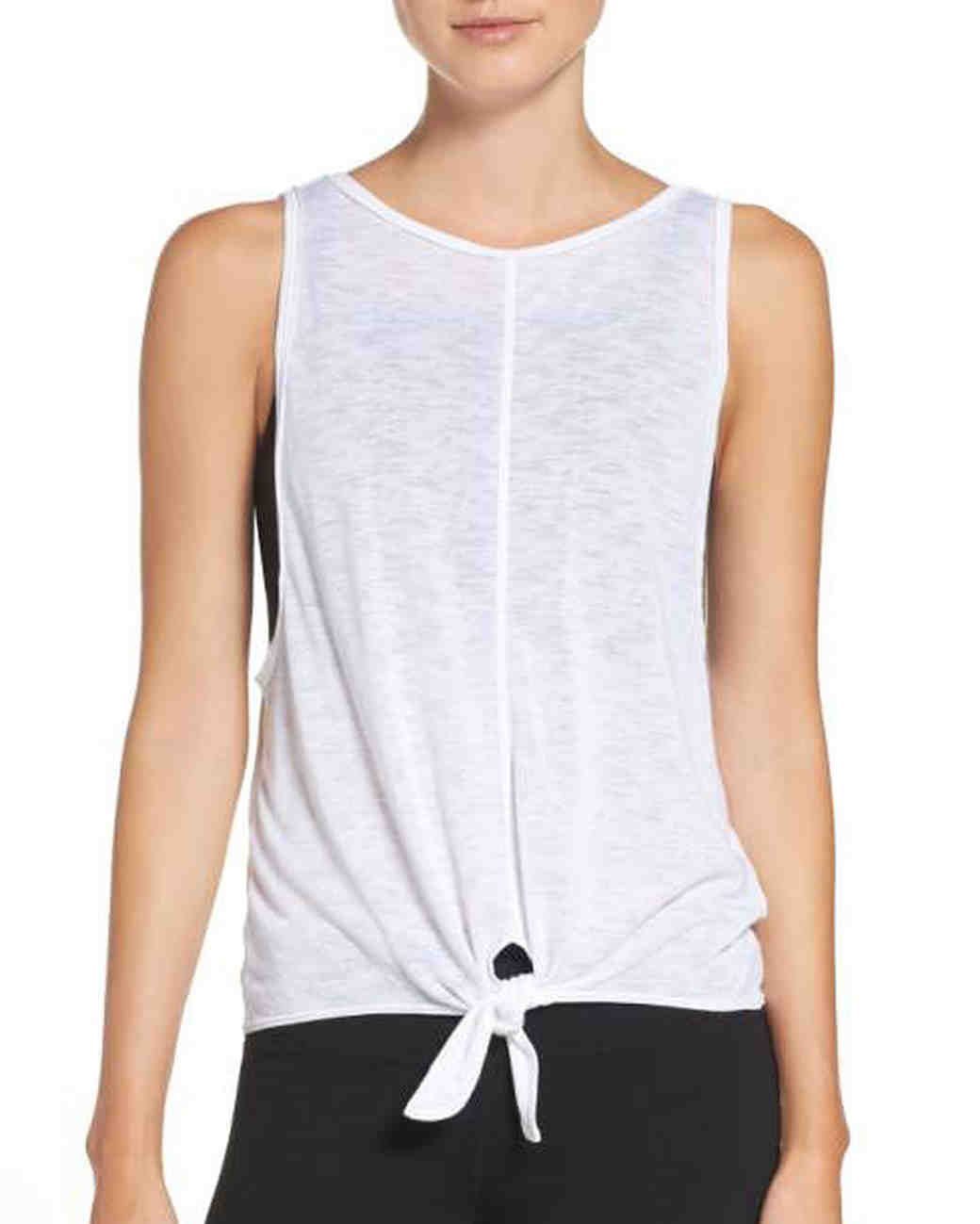 white workout tank