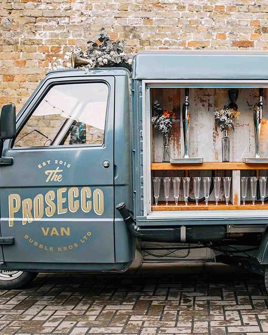 Bubble Bros Prosecco Van