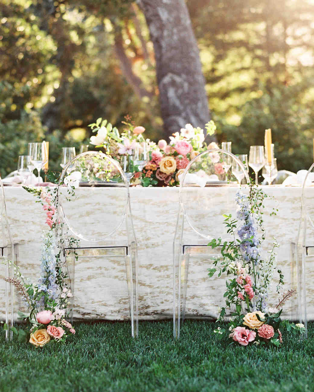 wedding chair decor 40 pretty ways to decorate your wedding chairs martha 8951