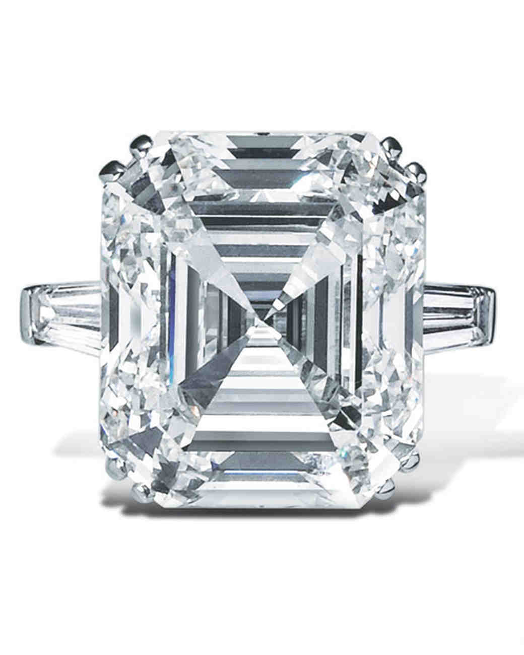 engagement moissanite mary ring cut rings three stone products asscher