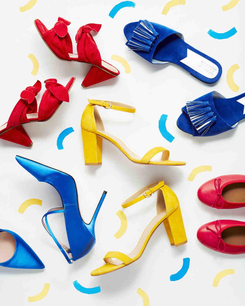 primary color heels