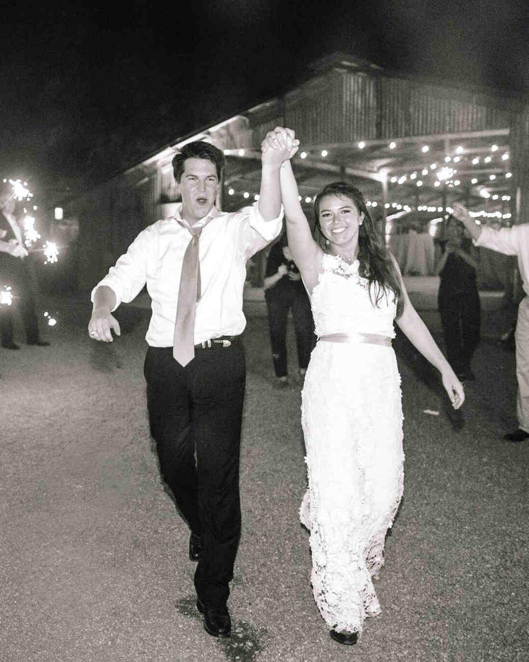 kelsey jacob wedding bride and groom exit