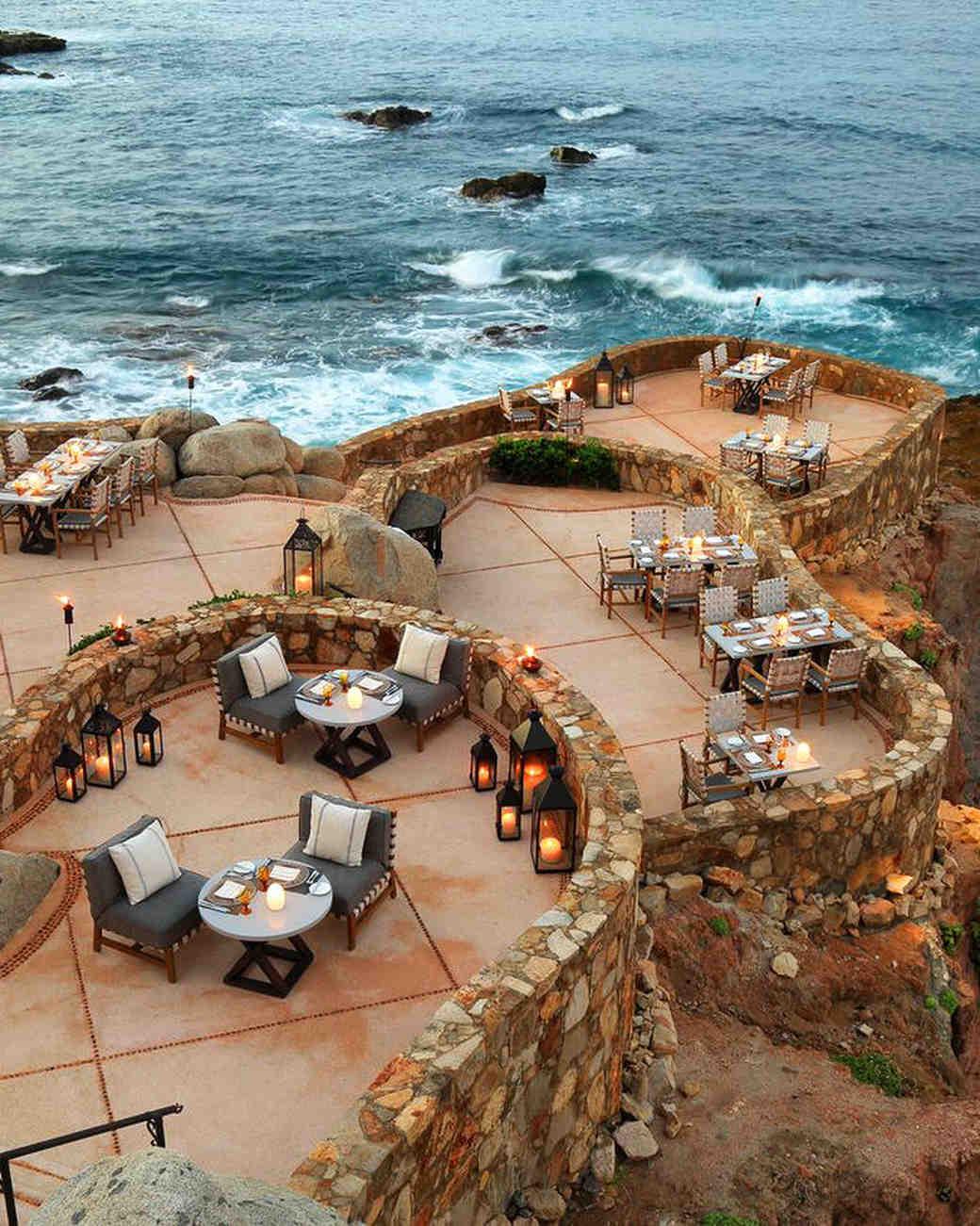 oceanside outdoor seating