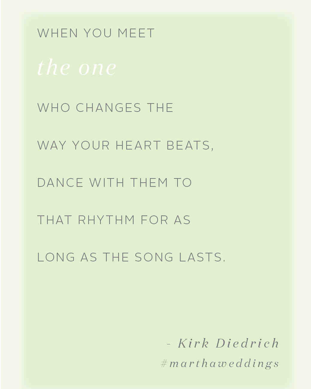 One Sentence Love Quotes The 20 Best Love Quotes Of All Time  Martha Stewart Weddings