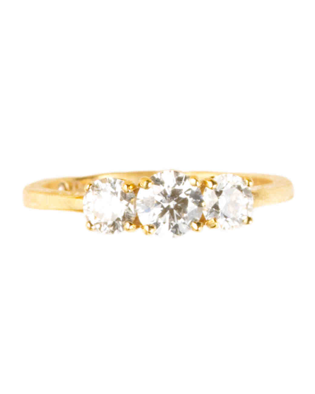 Trilogy Ring in Yellow Gold