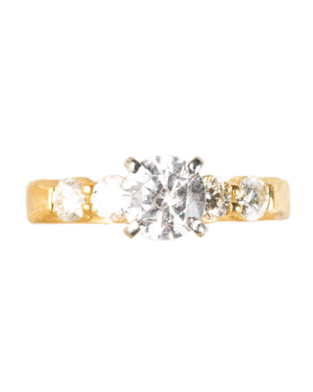 Petite Prong Yellow Gold Engagement Ring