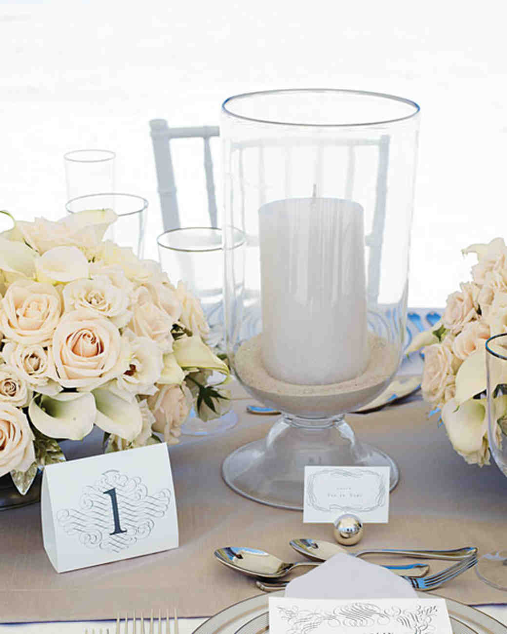 Wedding Table Decorations: Beach Wedding Centerpieces