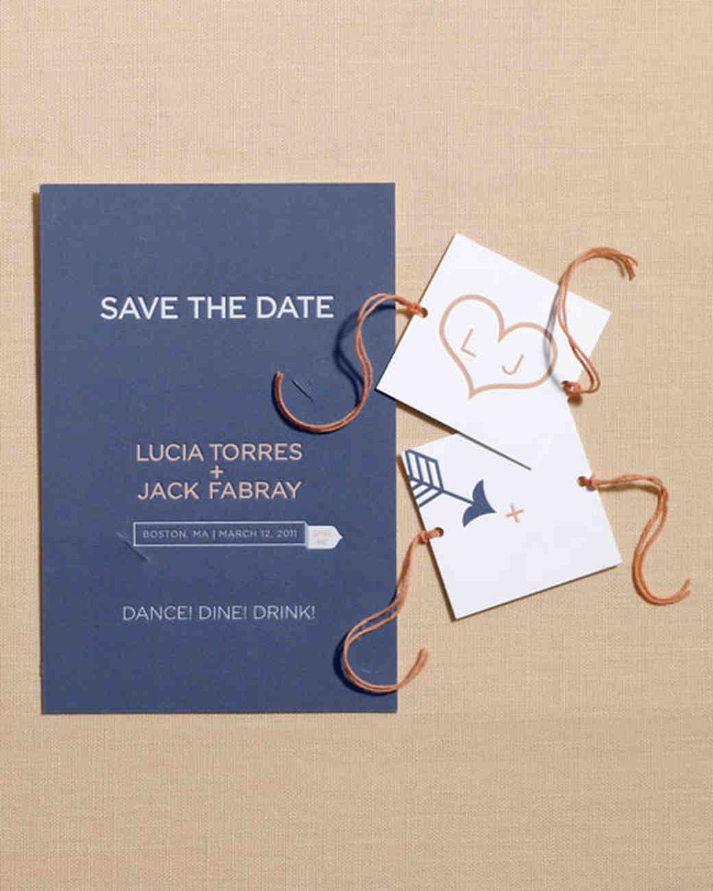 Diy save the dates martha stewart weddings junglespirit Choice Image
