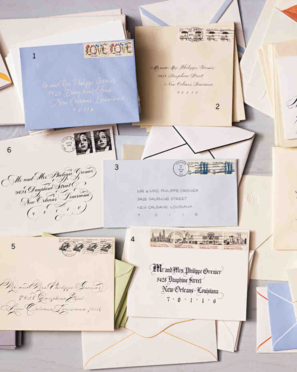 Calligraphed Envelopes