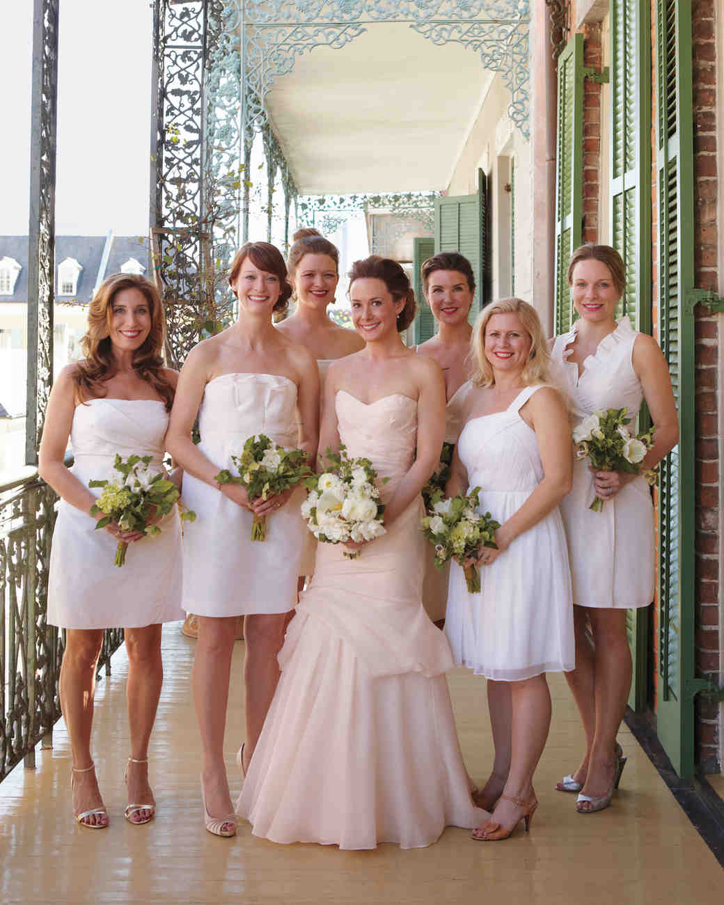 10 bridal parties wearing white at real weddings martha stewart 10 bridal parties wearing white at real weddings martha stewart weddings ombrellifo Image collections