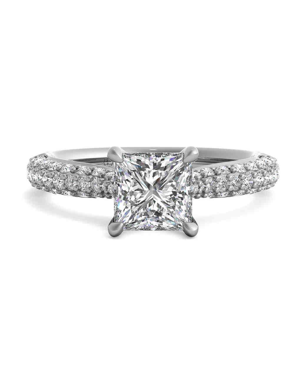 princess cut ring ritani silver diamonds