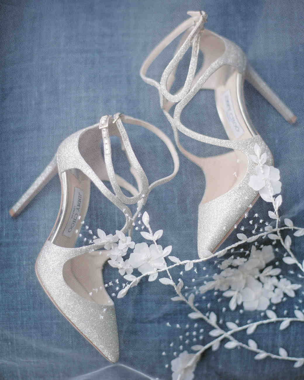 sloan scott wedding white shoes on blue background