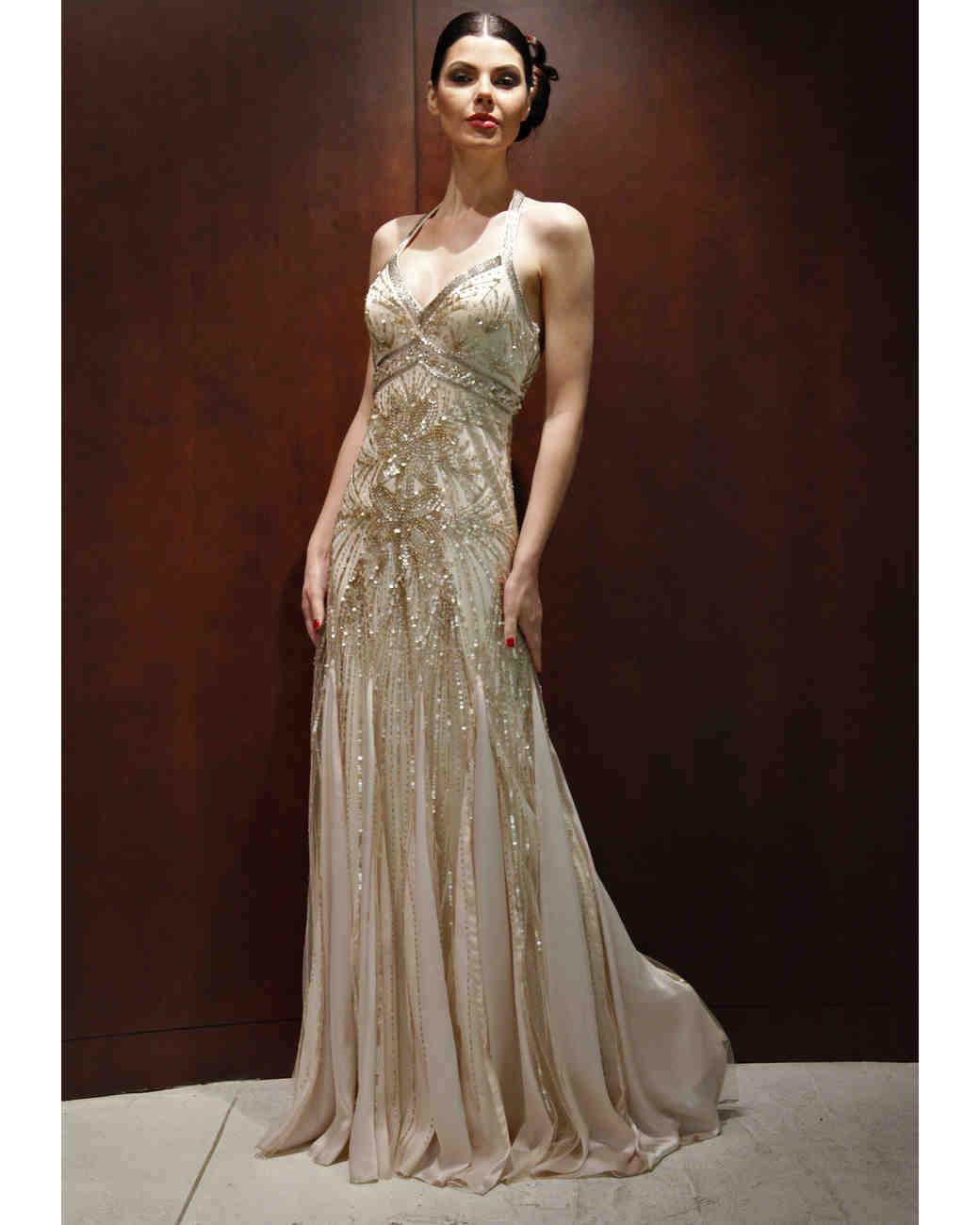 Vintage Style Beaded Wedding Dress