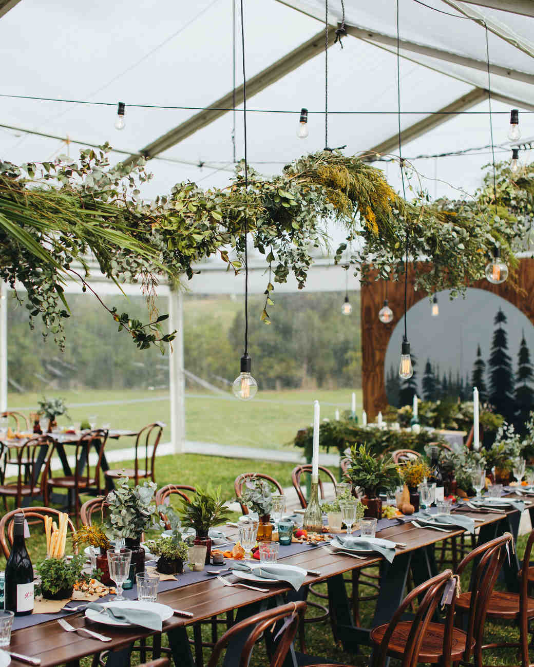 Green Canopy Decor: 28 Tent Decorating Ideas That Will Upgrade Your Wedding
