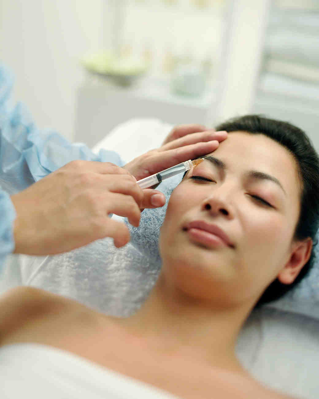woman getting botox treatment