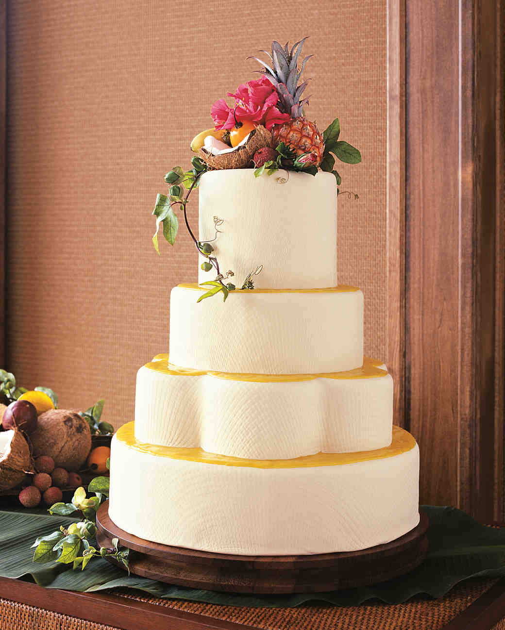 25 Amazing Beach Wedding Cakes Martha Stewart Weddings - Pineapple Wedding Cake