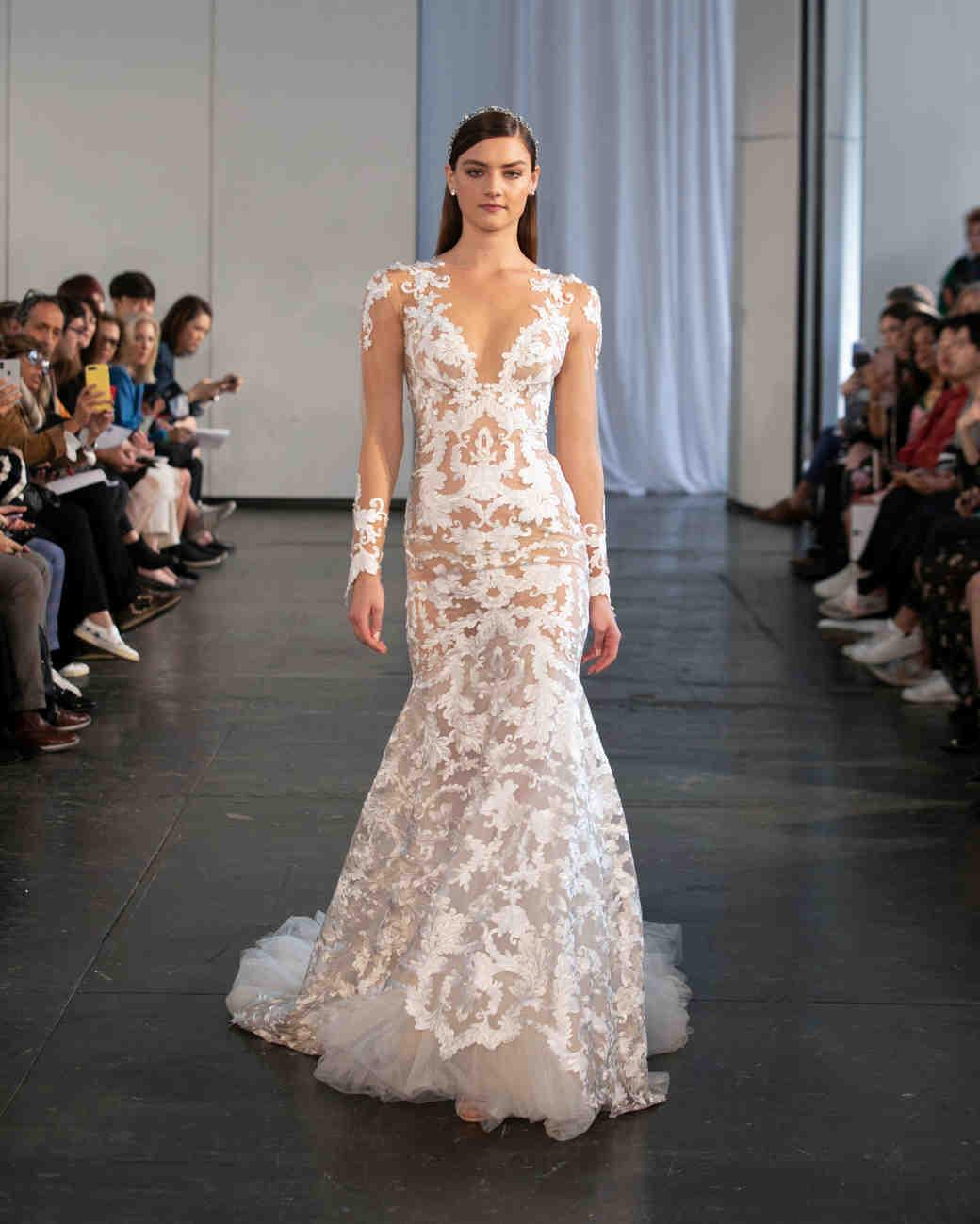 berta fall 2019 v-neck mermaid wedding dress