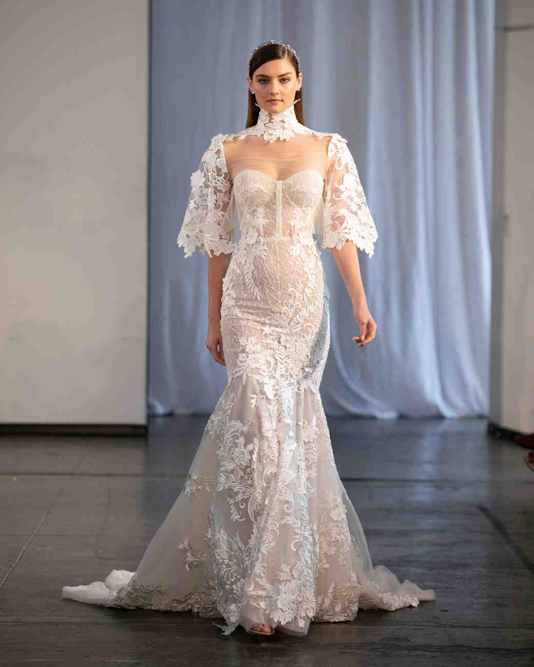 berta fall 2019 strapless sheer mermaid wedding dress