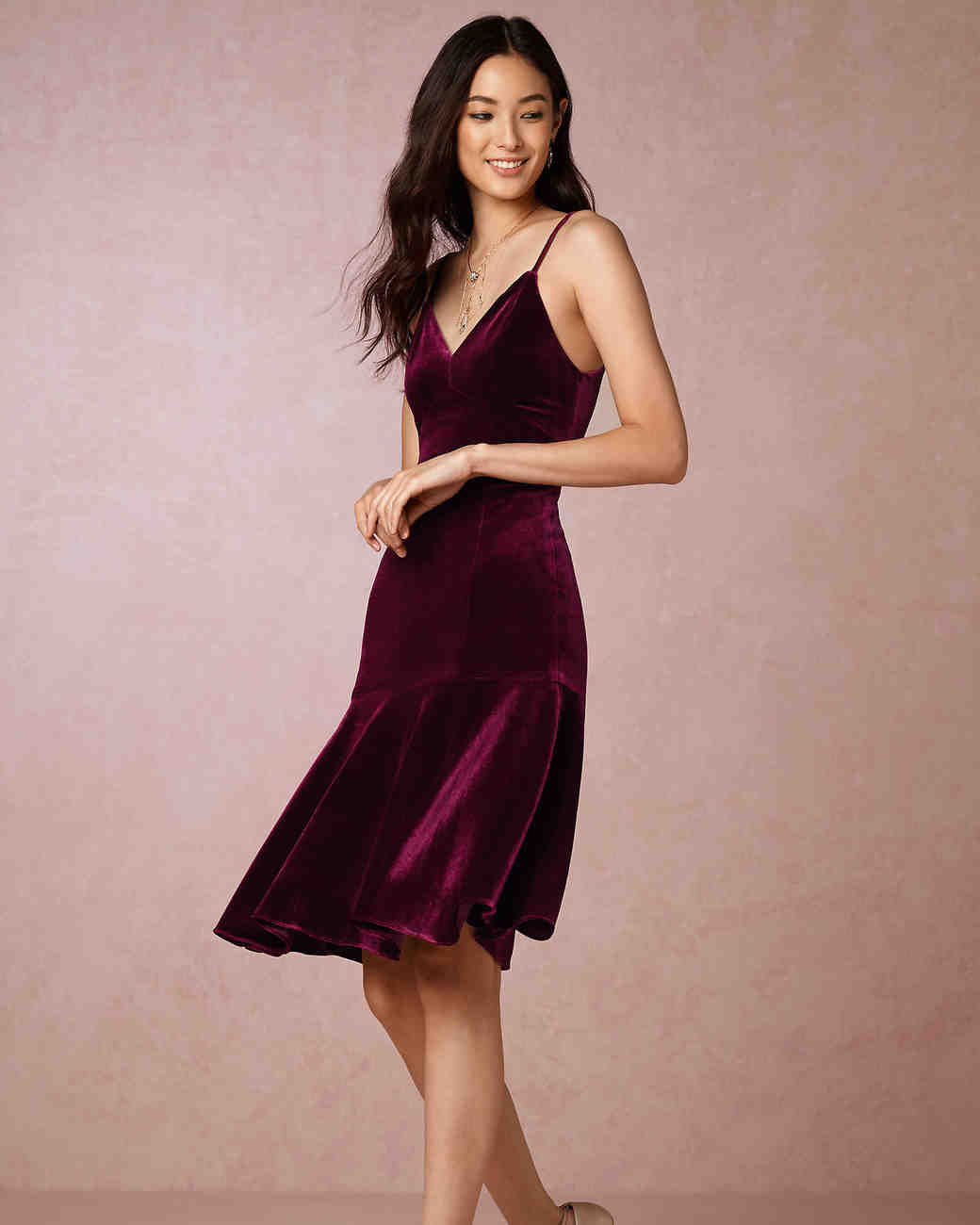 Velvet Dresses for Any Pre-Wedding Party | Martha Stewart Weddings