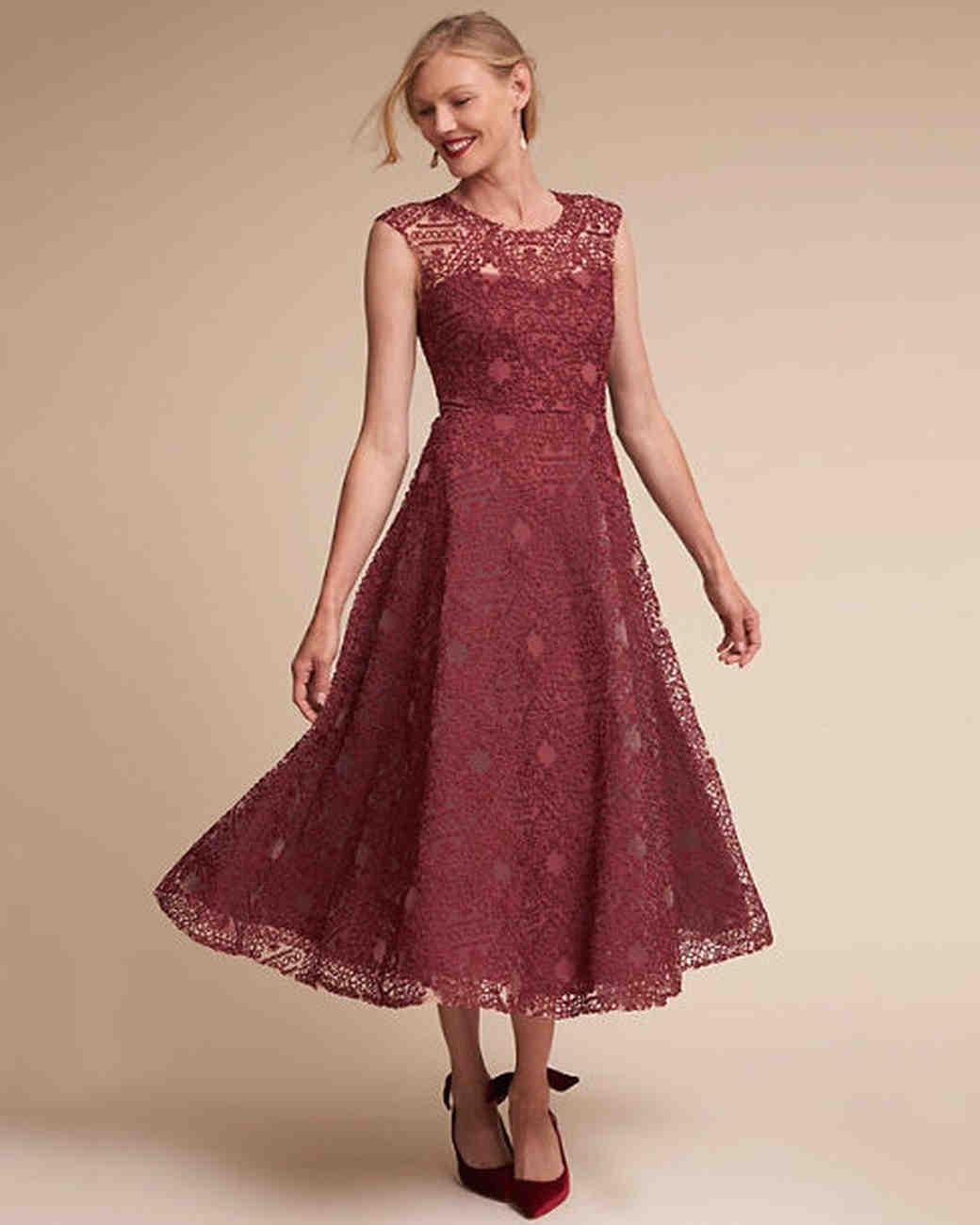 24 Burgundy Mother-of-the-Bride Dresses | Martha Stewart Weddings