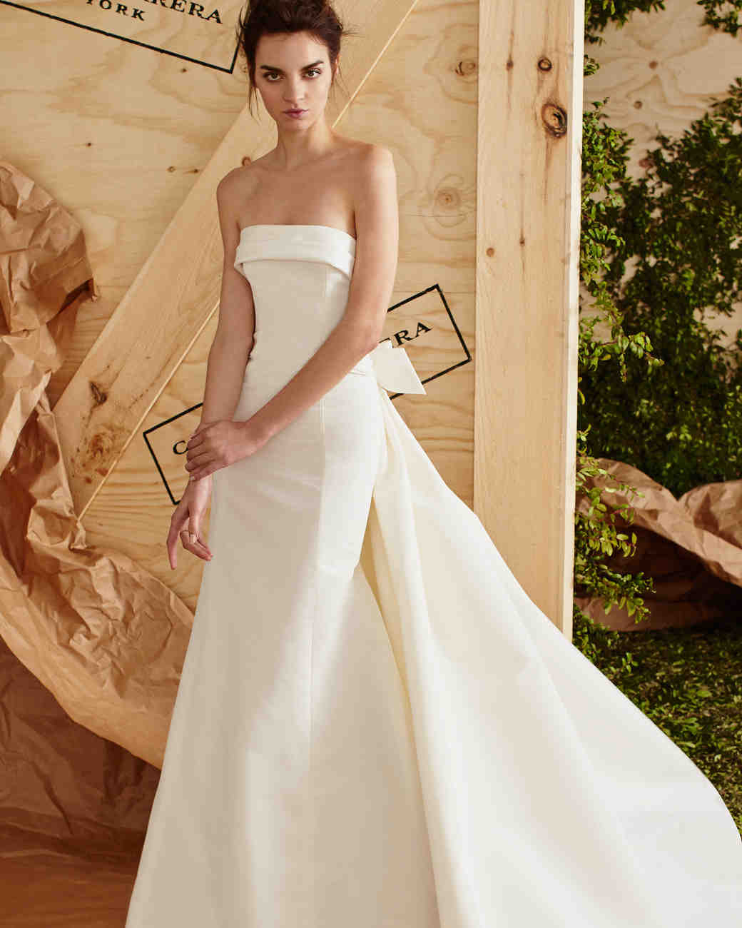 Clic Silk Strapless Wedding Dress