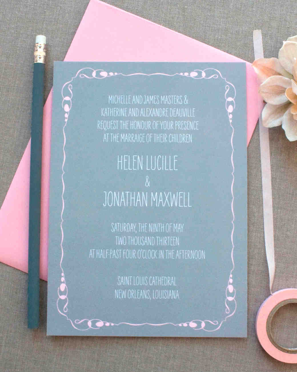 8 details to include when wording your wedding invitation martha host line junglespirit Gallery