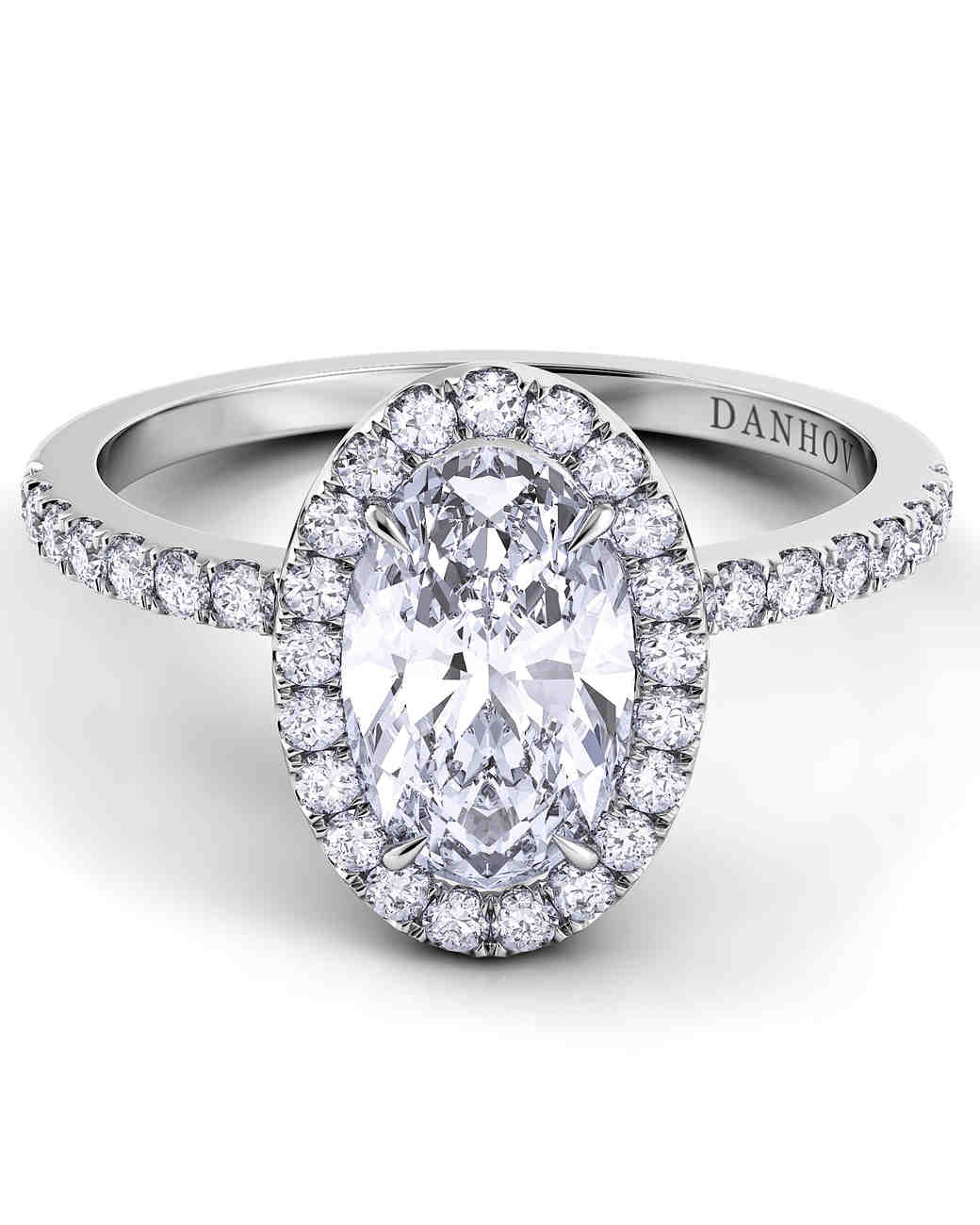 Danhov Oval Engagement Ring