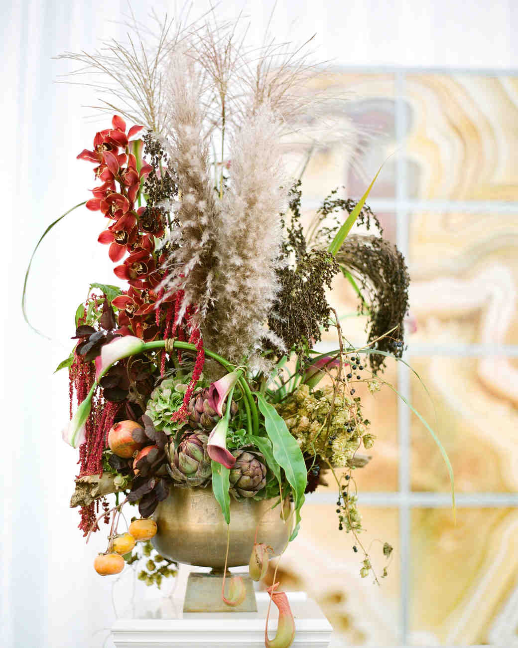Dried Flower Tall Centerpiece
