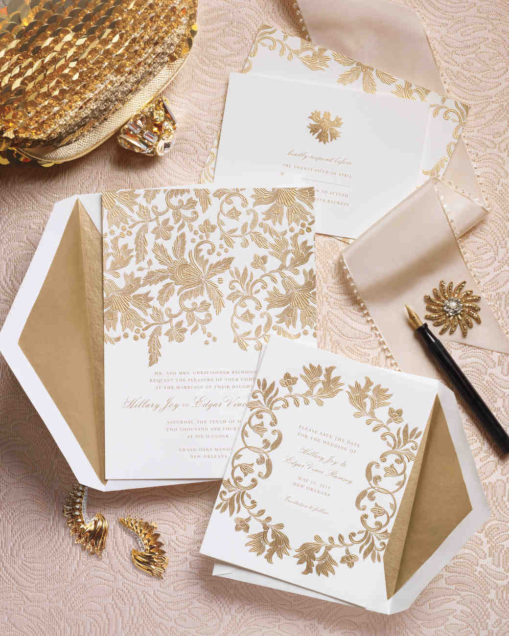 Wedding Invitations Inspired by Our Favorite Fashion Trends | Martha ...