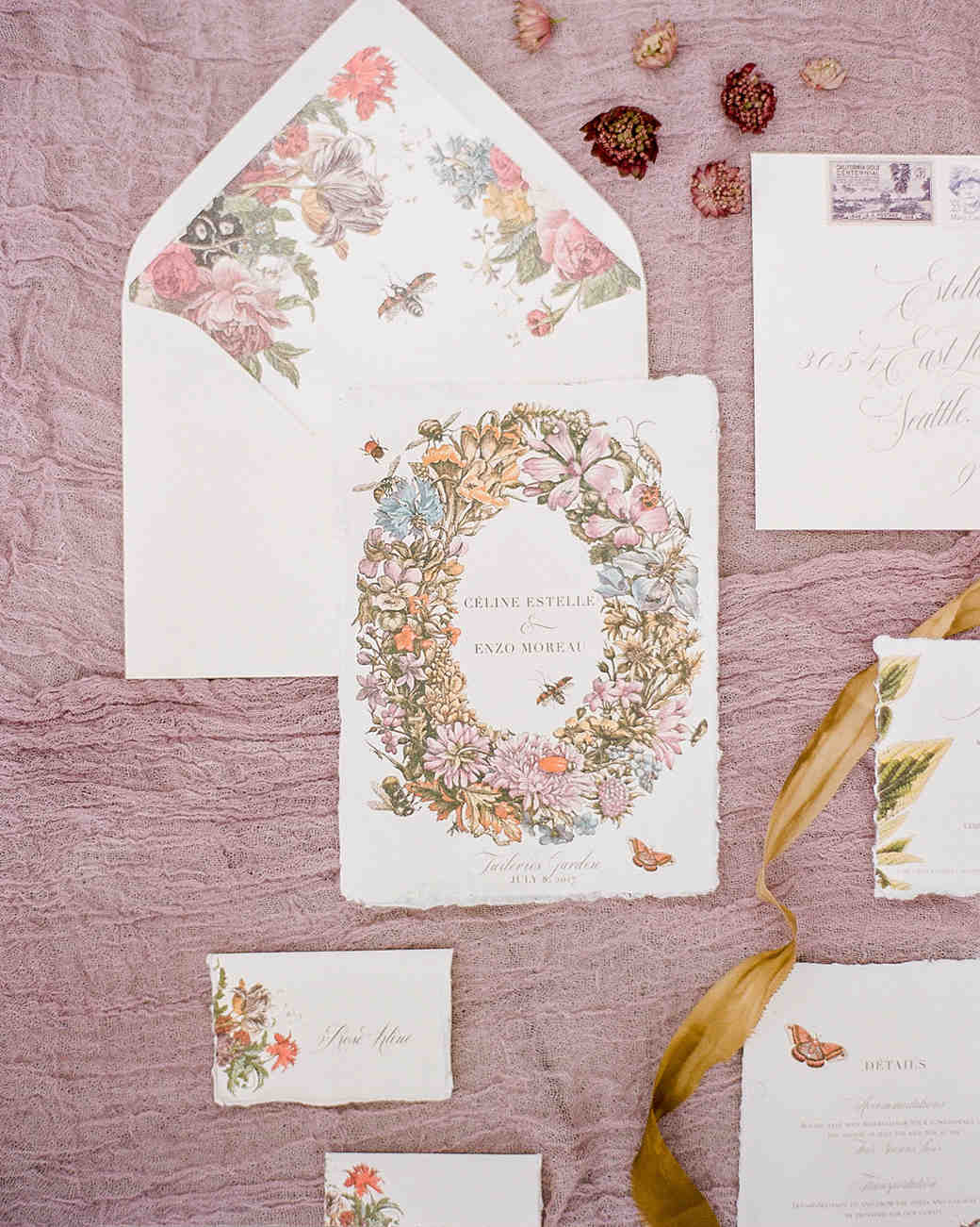 4bded04d5193 20 Pretty Envelope Liners That Dressed Up Wedding Invitation Suites ...