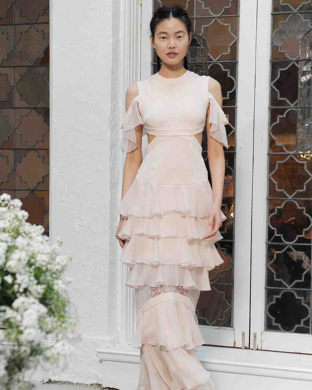 Unconventional Pink Wedding Dress