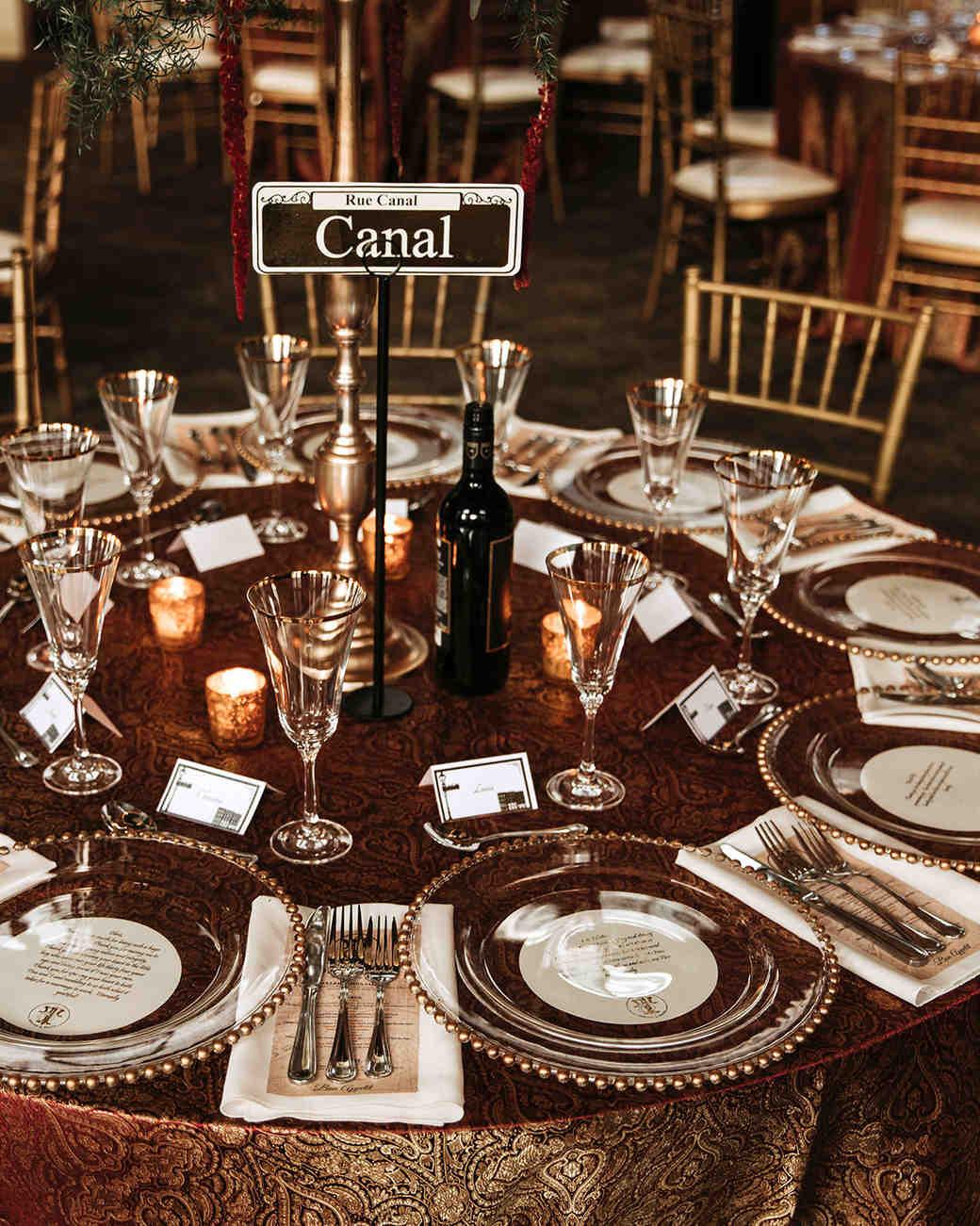 joe tim new orleans wedding table