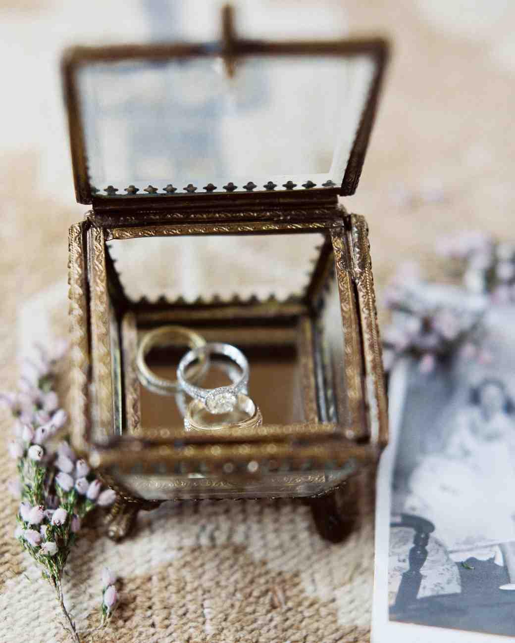 kelsey jacob wedding rings in ornate box