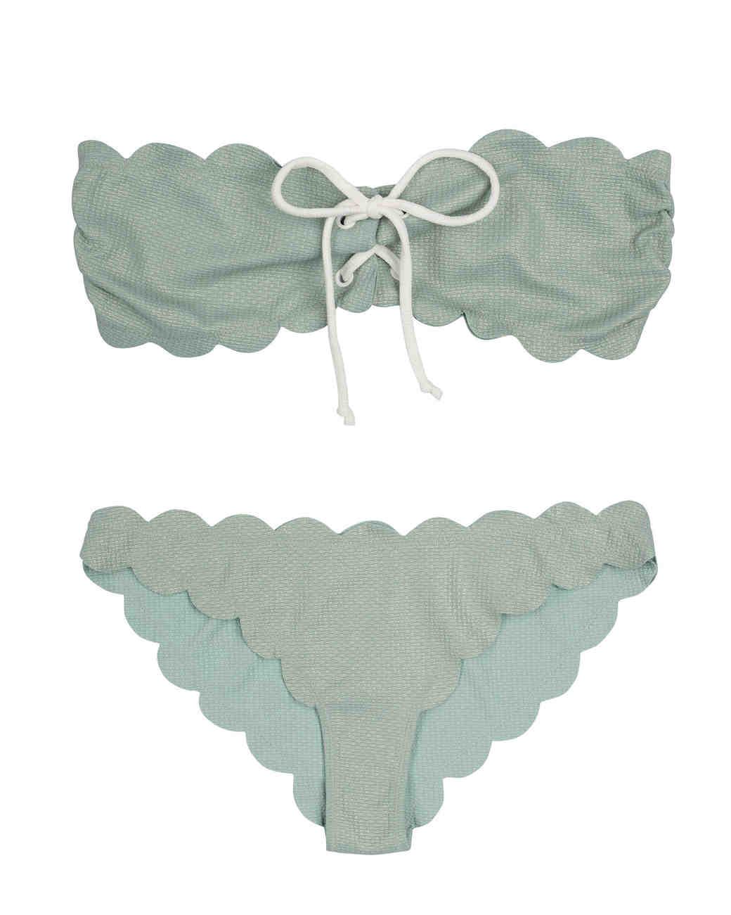 Scalloped Mint Bikini