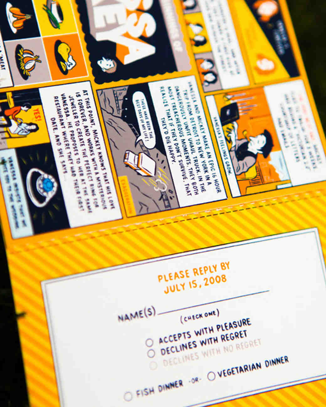 comic wedding invitation