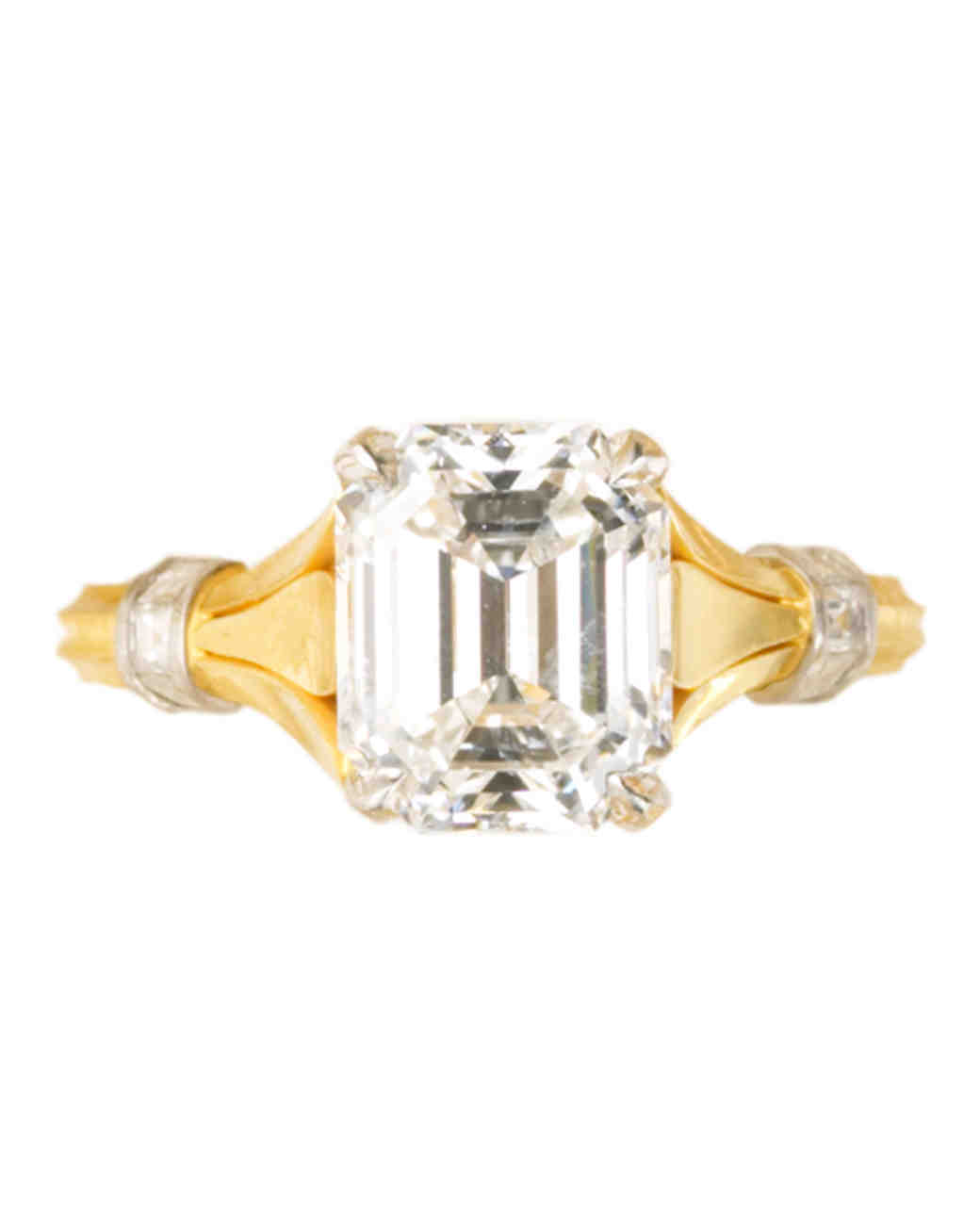 Emerald-Cut Yellow Gold Engagement Ring