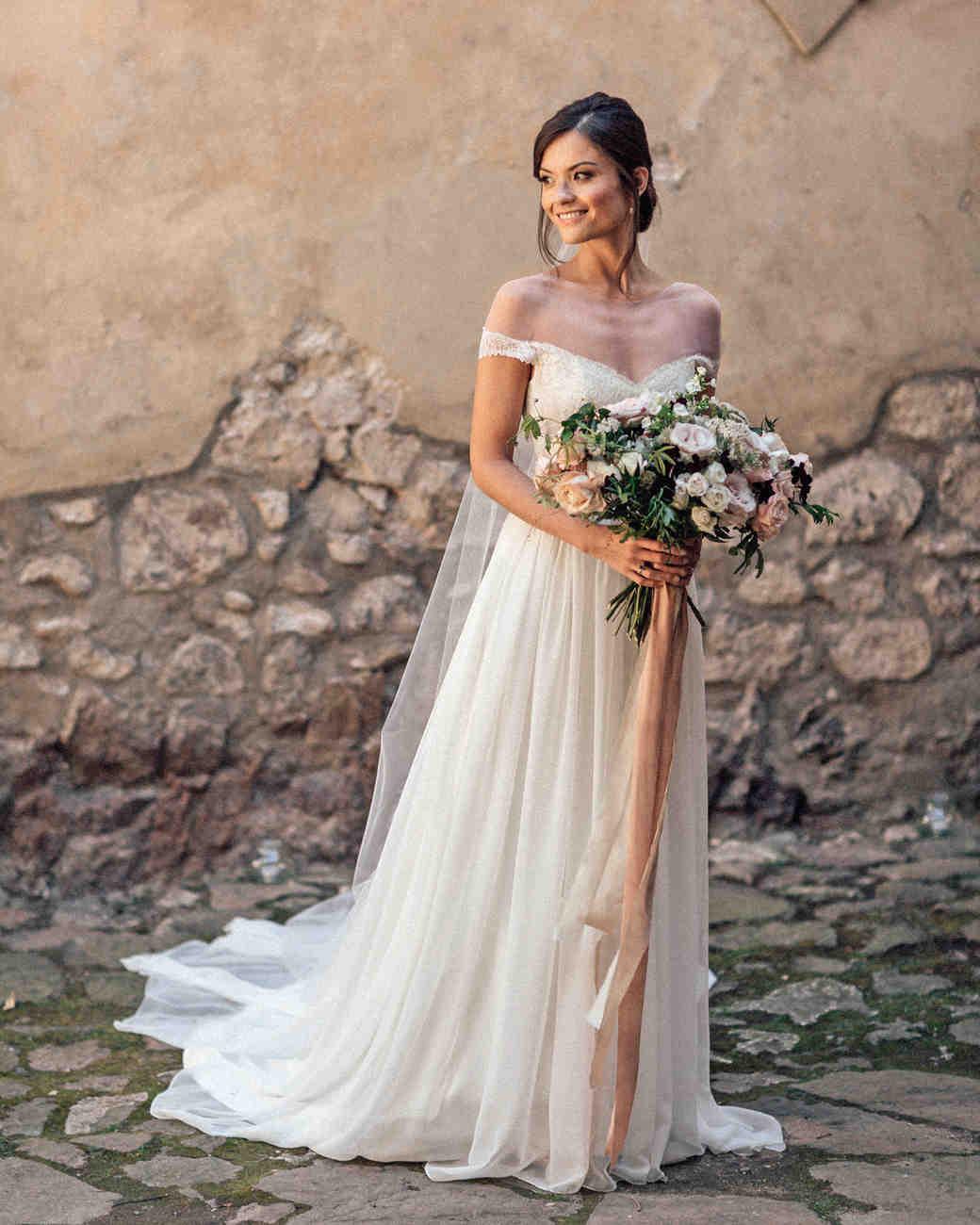 natalie paul wedding bride on stone path