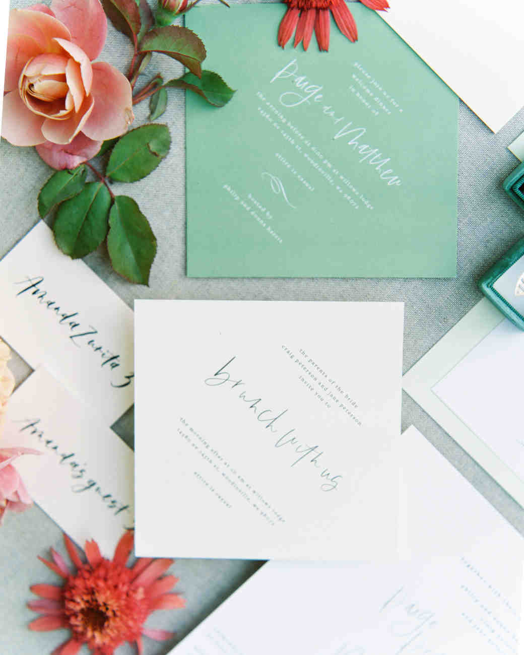 paige matt wedding invites