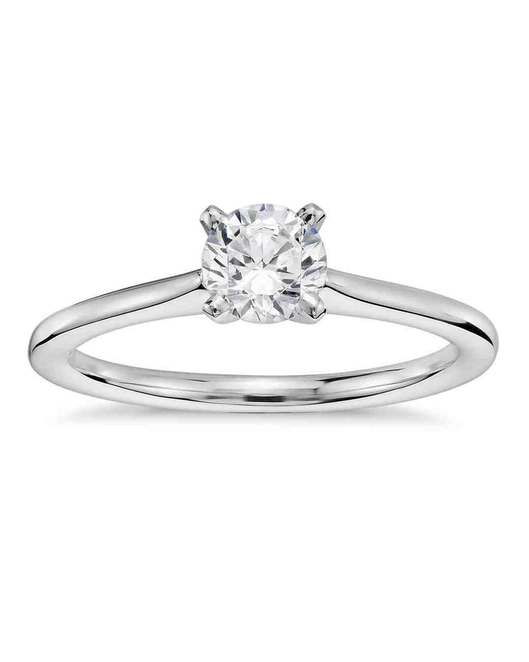 Blue Nile Petite Solitaire Engagement Ring