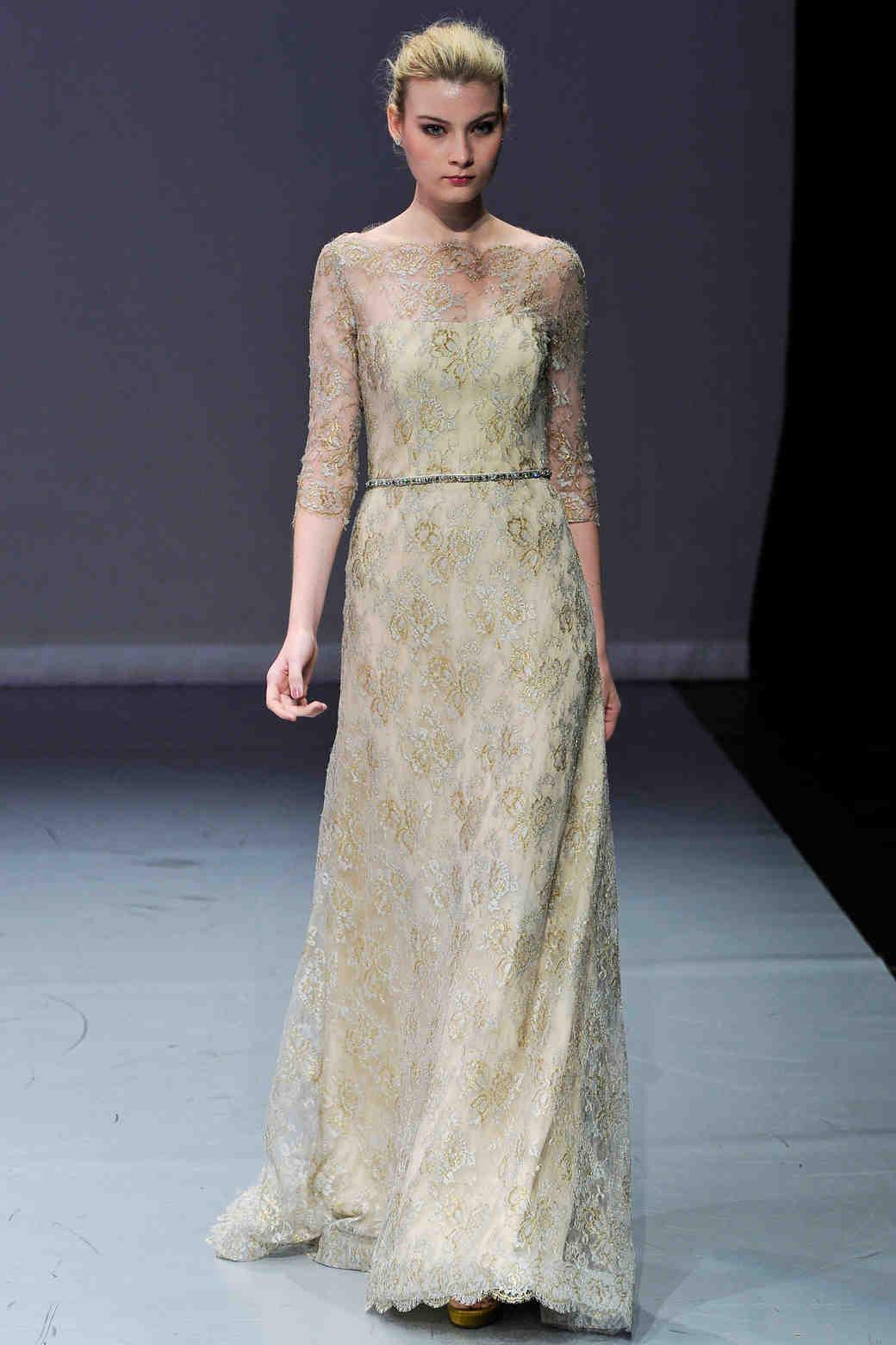 Gold Wedding Dresses, Fall 2012 Bridal Fashion Week | Martha Stewart ...