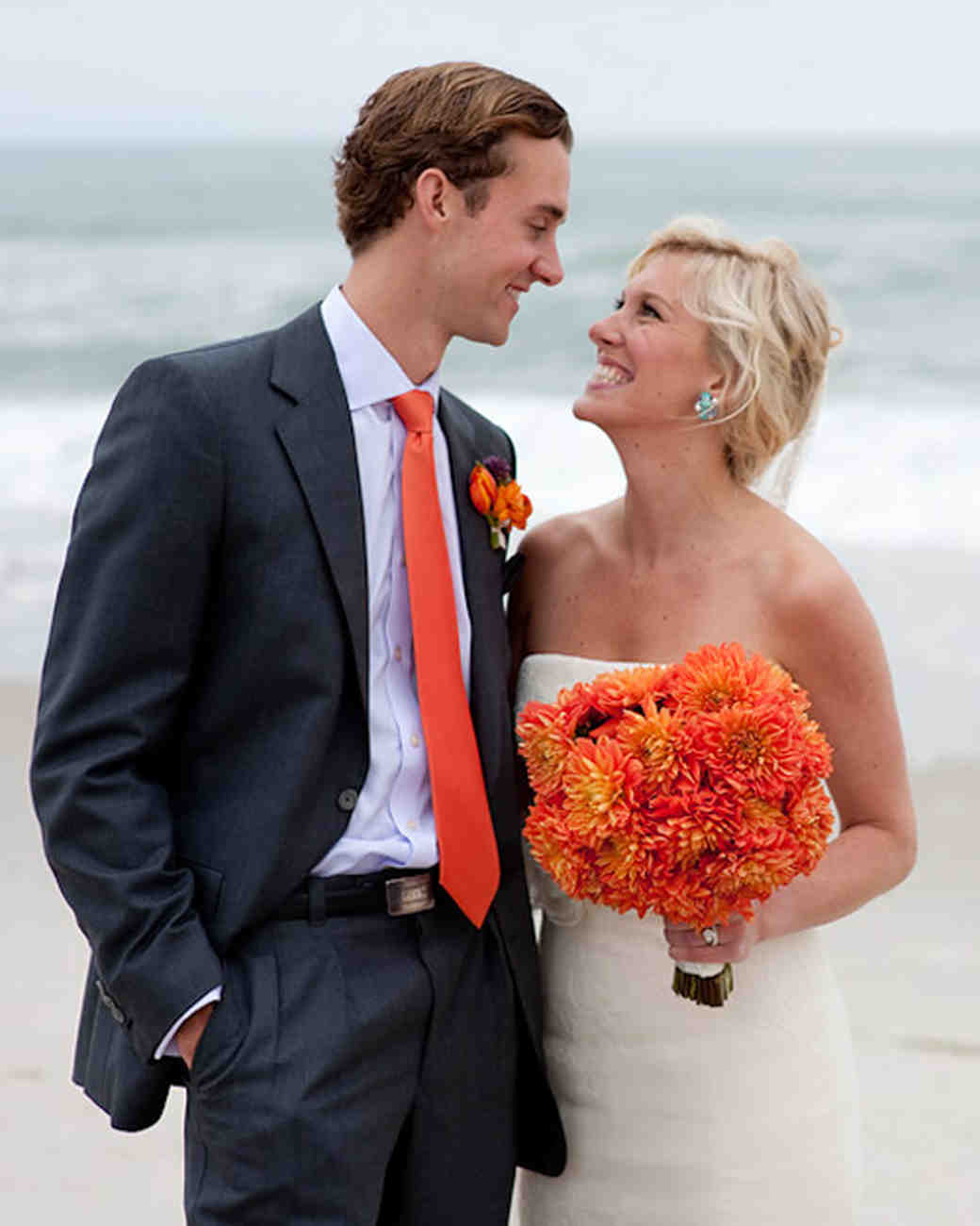 A Vibrant Orange-and-Purple Beach Destination Wedding in New Jersey ...