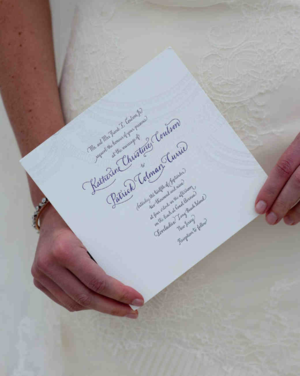 pale gray wedding invitation